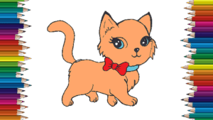 How To Draw A Cute Cat Step By Step Cat Cartoon Drawing Easy