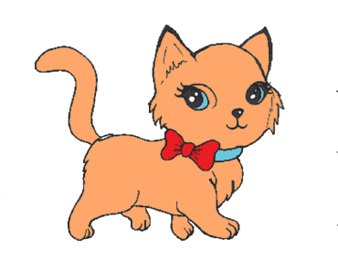 How to draw a cute cat step by step - Coloring pages for kids