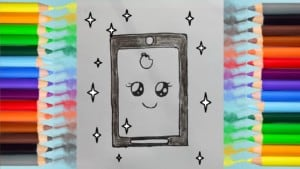 how to draw i phone and coloring pages