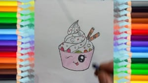 How to draw Draw cute cupcake