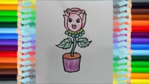 How to Draw Cute Flowers for Kids Coloring, Children's Coloring