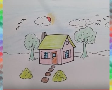 How to Draw House Step by Step for Kids