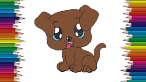 How To Draw A Cute Dog Easy Puppy Cartoon Drawing Step By Step