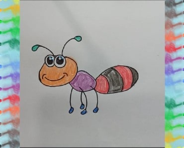 How to draw ant coloring pages