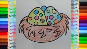 How to draw bird nest