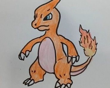 How to draw charmeleon step by step