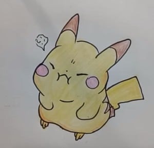How to draw cute pikachu from pokemon