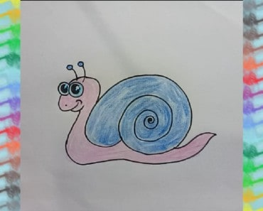 How to draw cute cartoon snail