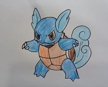 How to draw wartortle from pokemon