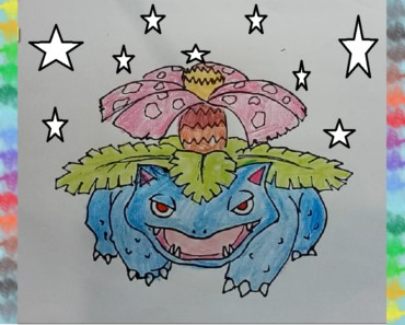 Pokemon drawing coloring pages - How to draw venusaur from pokemon