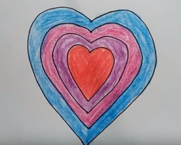 How to Draw Heart Rainbow Coloring Pages