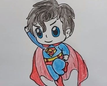 How to Draw Superhero Superman Cute Step by Step - superhero cute drawing