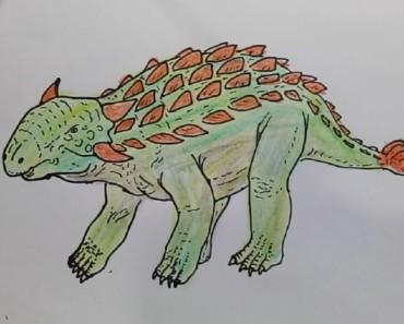 How to draw Ankylosaurus