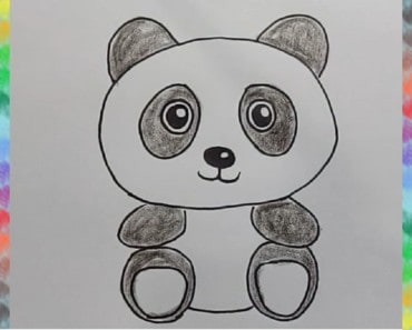 How to draw cute cartoon PANDA