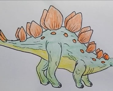 How to draw Stegosaurus