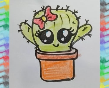 How to draw a Cute cartoon Cactus
