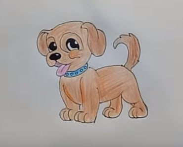 How to draw a Dog cute and easy! Step by step - Draw cute animals