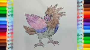 How to draw a Spearow from Pokemon