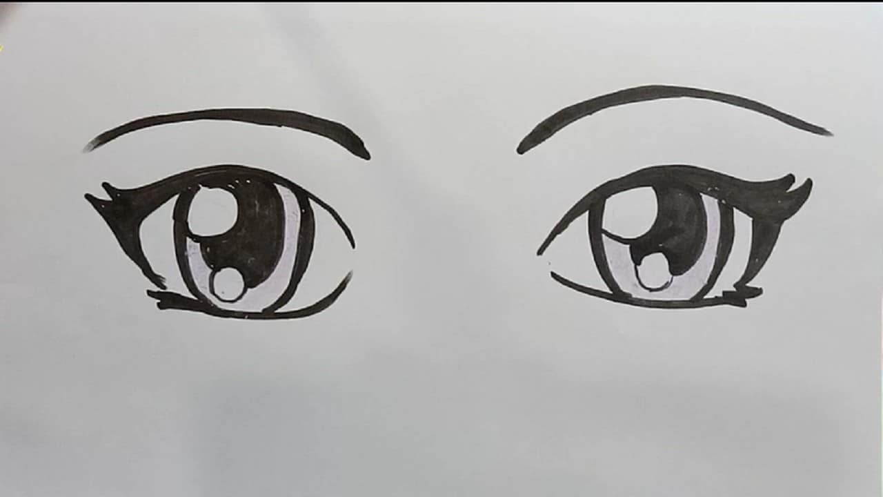 How To Draw Anime Eyes Step By Step And Easy