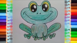 How to draw cute cartoon frog