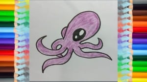 How to draw octopus - draw cute animals