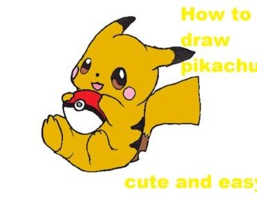 How to draw pikachu step by step - Pokemon pikachu drawing