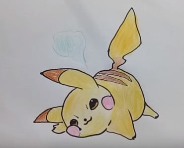 Pokemon Pikachu funny and cute Drawing - How to draw pikachu cute and easy