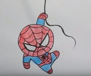 Superman cute Drawing - how to draw superhero cute step by step!
