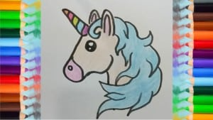 How To Draw a Unicorn Emoji cute and easy