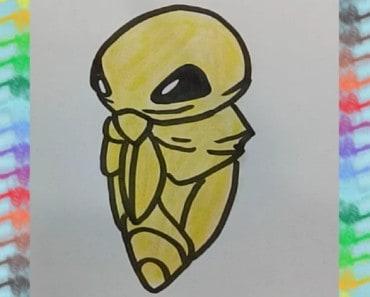 how-to-draw-Kakuna-from-Pokemon-step