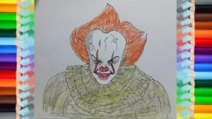 Drawing Pennywise the Dancing Clown