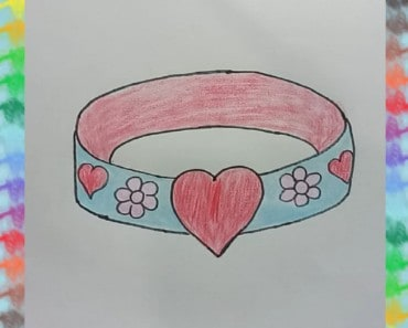 How to Draw Bracelet for Kids - Coloring Page for Kids with Colored Marker