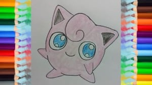 How to draw Jigglypuff from Pokemon