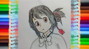 How to draw Mitsuha from your name