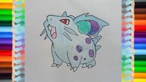 How to draw Nidoran (female) from Pokemon