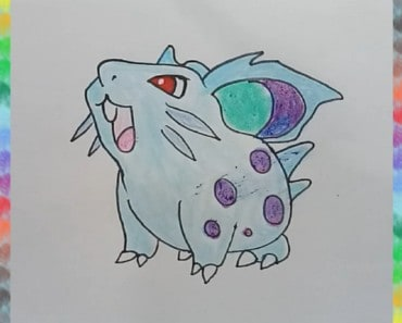 How to draw Nidoran (female) from Pokemon