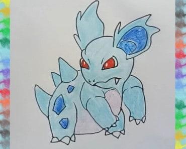How to draw Nidorina from pokemon