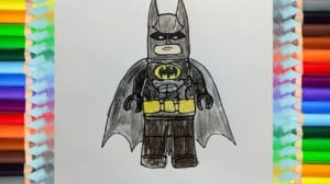 How to draw batman from The Lego Batman Movie