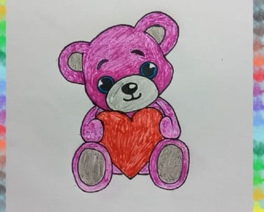 How to draw pin tendy bear