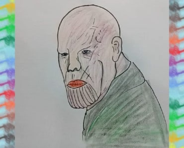 HOW TO DRAW THANOS - AVENGERS INFINITY WAR