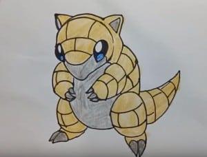 how to draw Sandshrew from Pokemon