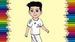 how to draw cristiano ronaldo cute and easy