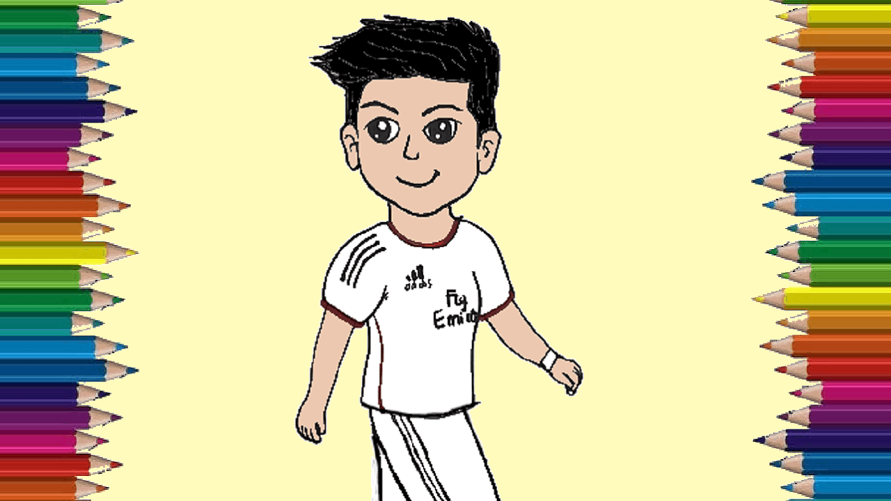 How to draw cristiano ronaldo cute and easy ronaldo cartoon drawing step by step