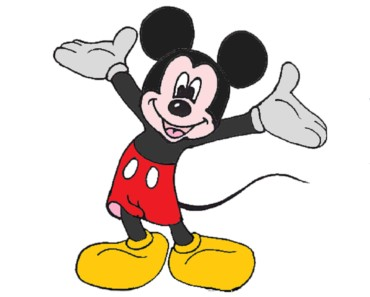 How to draw Mickey Mouse - Easy step-by-step drawing and coloring