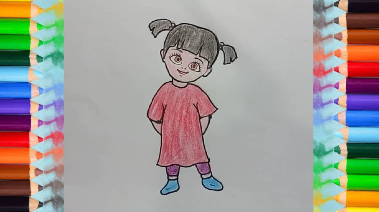 How To Draw Boo From Monsters Inc How To Draw Step By Step