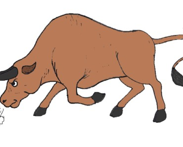 How to draw cartoon Bull - Bull drawing and coloring