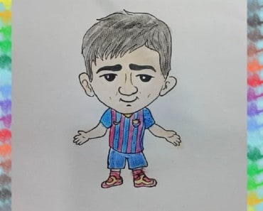 How to Draw Lionel Messi chibi