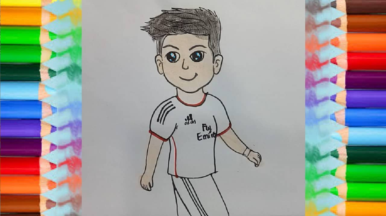 How To Draw Cute Cristiano Ronaldo How To Draw Step By Step