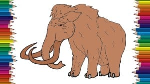 How to draw a mammoth step by step easy