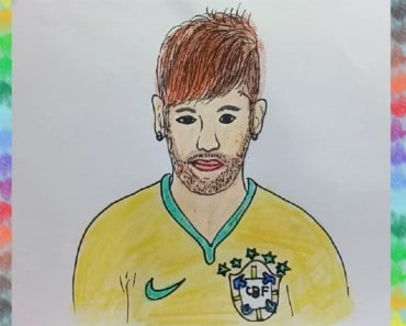 How to Draw Neymar (Footballers) step by step